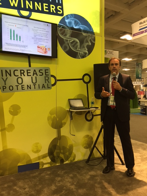 Presentation of ColoDetect project in the European Commission booth at BIO 2016